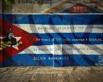 El mural homenajea al trovador cubano Silvio Rodríguez.