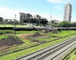 Estos son los terrenos lindantes al estadio de Ferrocarril Oeste, en donde el Pro quiere construir un shopping.