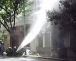 Un transformador explotó en Caballito.
