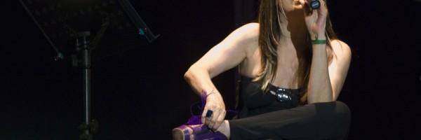 Adriana Varela brindó un espectáculo en la Boca.