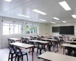 El Gobierno de planea poner aulas modulares.