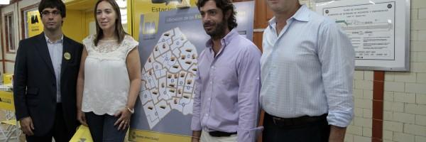 Vidal inauguró estaciones sanitarias en el subte.