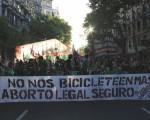 Una bicicleteada por el derecho al aborto.