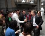 Macri junto a los ganadores.