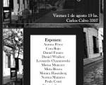 Afiche de invitación a la muestra fotográfica.
