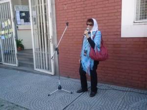 Taty Almeida fue quien cerró el acto.