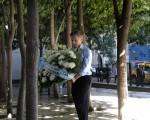 Macri entregó una ofrenda floral recordando a las víctimas fatales.