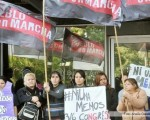 Manifestación frente a la Dirección de Género.