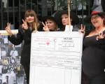 Protesta frente al Ministerio de Trabajo.