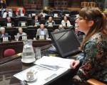 Representantes de centros de jubilados asistieron a la Legislatura.