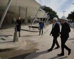 Macri visitó las obras en Puerto Madero.