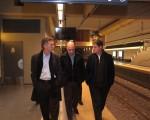 El jefe de Gobierno de la Ciudad de Buenos Aires, Mauricio Macri, y la línea H de subterráneos (Hospitales) que será inaugurada este mes.  Foto Matias Repetto-gv/GCBA.-