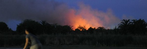 Incendio en Puerto Madero.